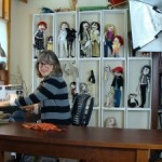Artist Jill Andrews makes unique dolls based on real people and celebrities.